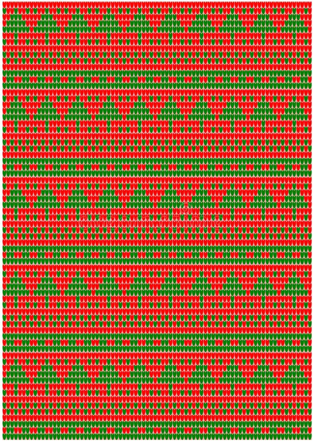 Knitted Christmas Tree Pattern royalty free stock image