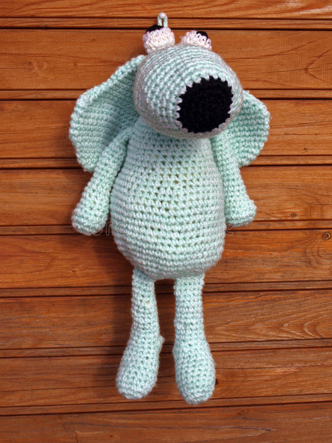 Knitted Dog Royalty Free Stock Photo