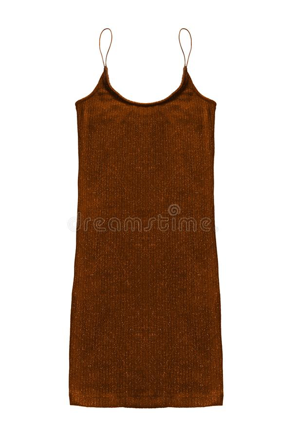 Knitted dress isolated royalty free stock photo