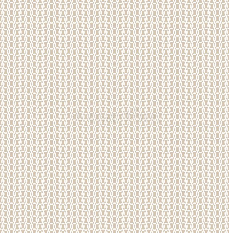 Knitted fabric seamless pattern Light beige knitting texture background, bright backdrop, soft wool textile. Natural royalty free illustration
