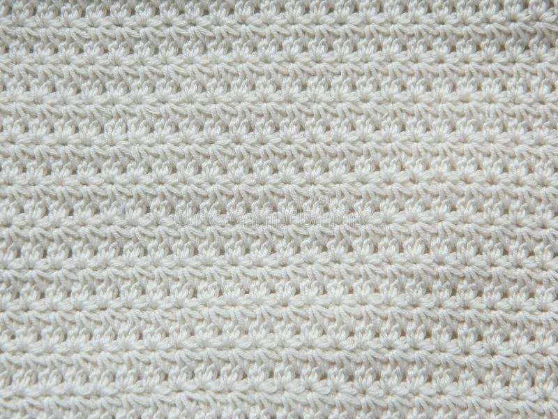 Knitted faz crochê o teste padrão imagem de stock