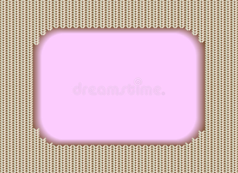 Download Knitted frame stock vector. Illustration of fabric, greeting - 22242866