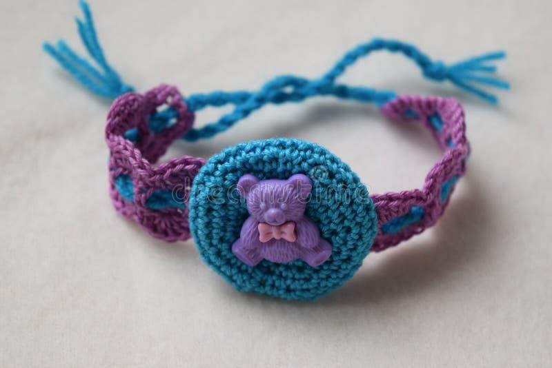 Knitted headband stock photography