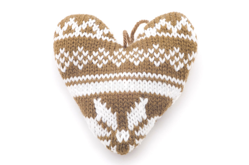 Download Knitted heart stock image. Image of christmas, love, heart - 7577561