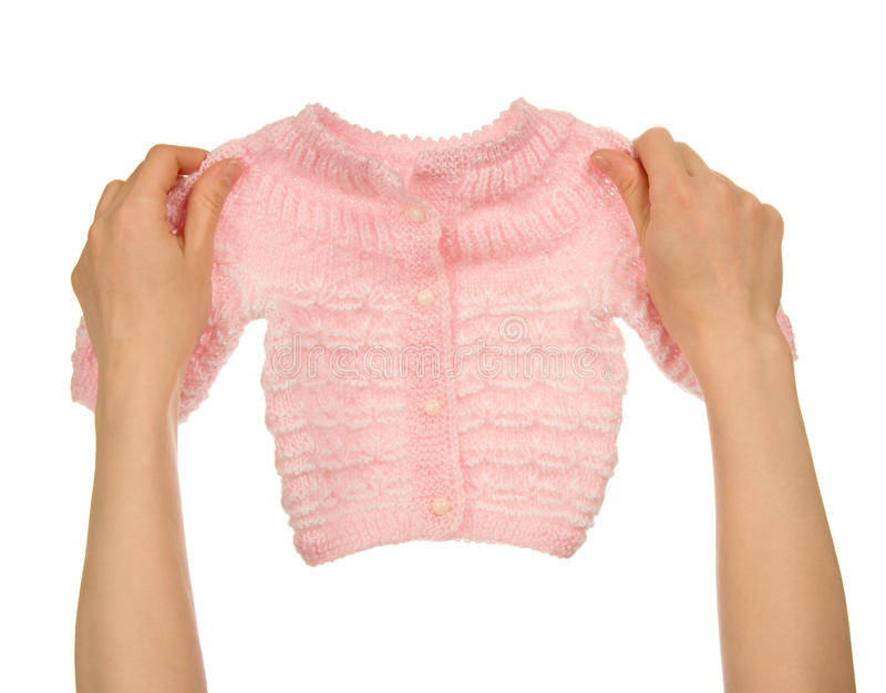 Download Knitted Jacket In The Female Hands Stock Illustration - Illustration of blouse, cotton: 35865976
