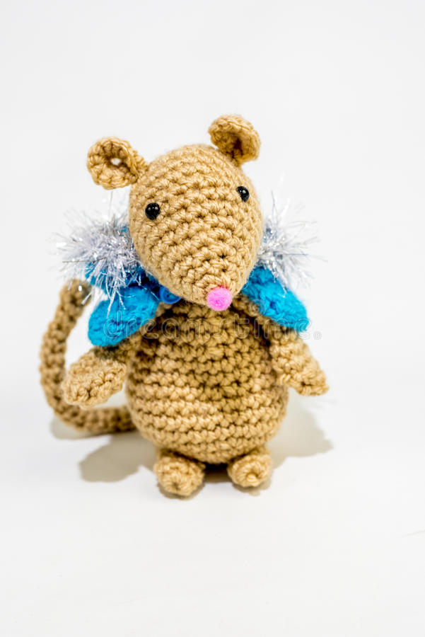 Download Knitted mouse stock photo. Image of mouse, cape, cute - 39504878