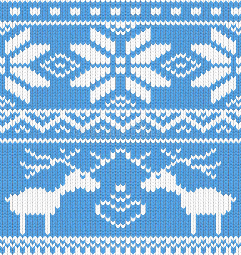 Knitted Pattern With Deer.jpg Stock Photography