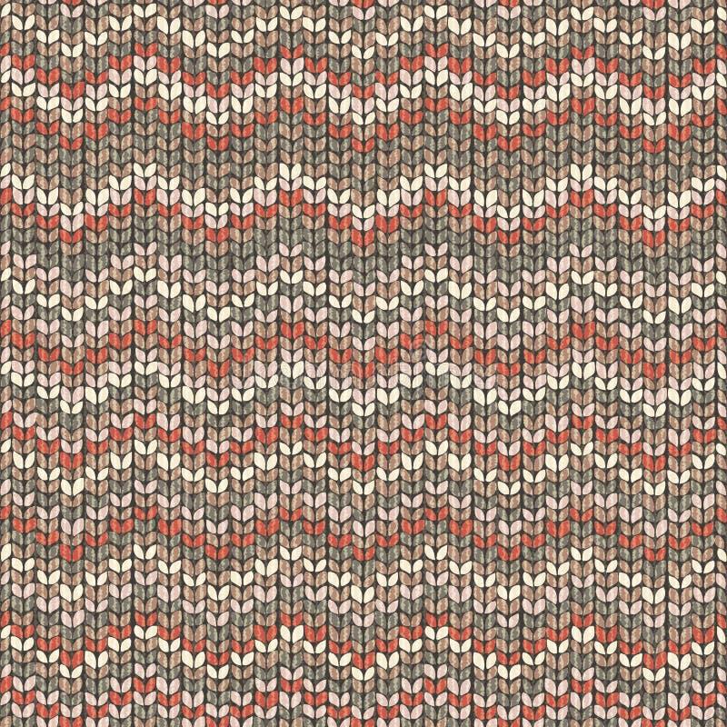 Knitted pattern, zigzag seamless wool wallpaper royalty free illustration