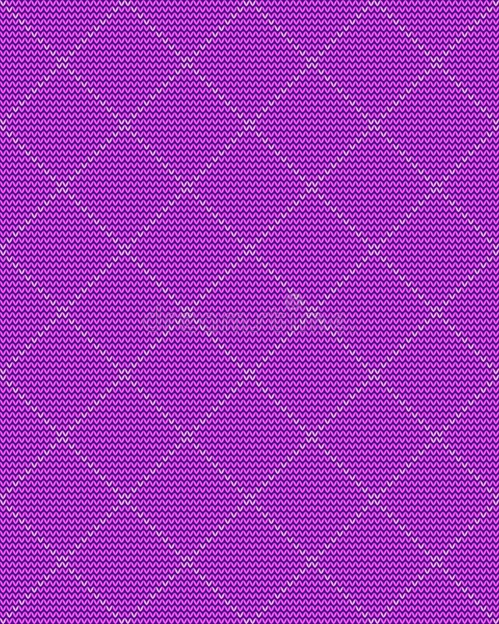 Knitted repeating ornament, foursquare on a purple background, seamless pattern. Knitted repeating ornament, foursquare on a purple background. Texture for vector illustration