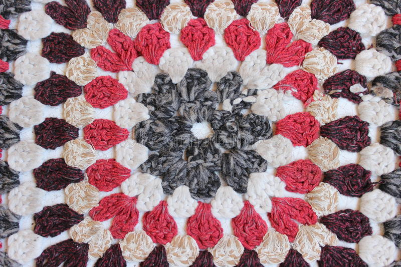 Knitted rug royalty free stock images