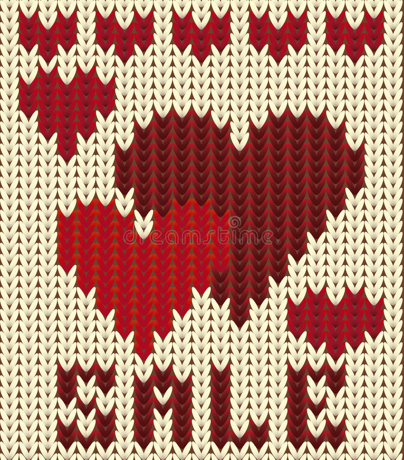 Knitted sale valentines day, vector. Illustration royalty free illustration