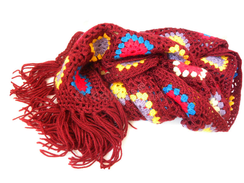 Knitted scarf stock image