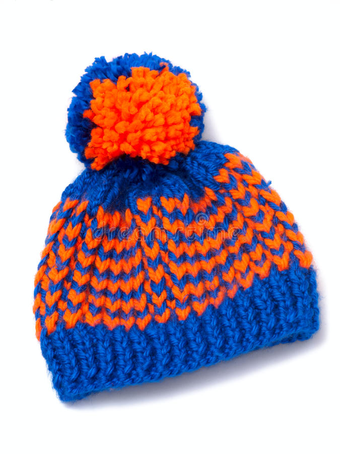 Download Knitted scarf and cap stock image. Image of object, isolated - 22856403