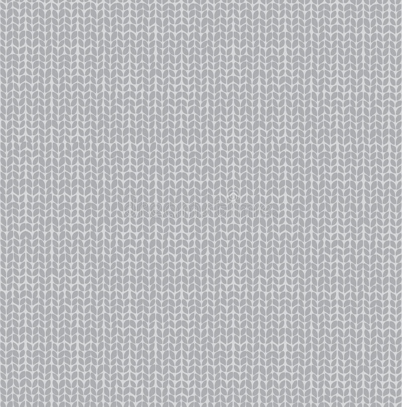 Knitted Seamless Fabric Pattern royalty free illustration