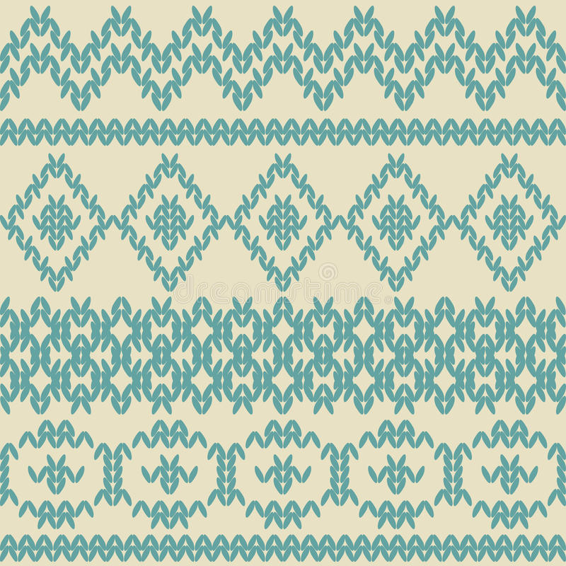 Knitted seamless pattern in ethnic style. royalty free illustration