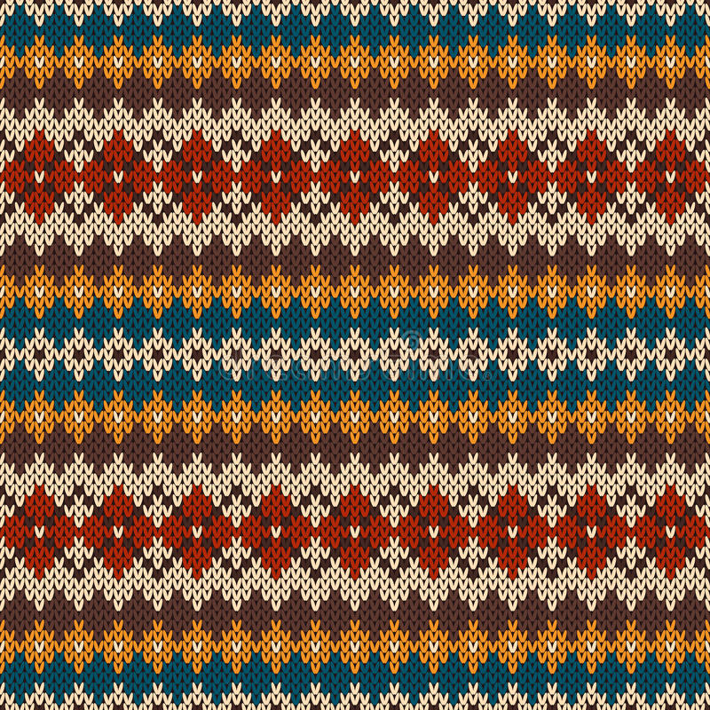 Knitted Seamless Pattern In Fair Isle Style. EPS Available Stock ...