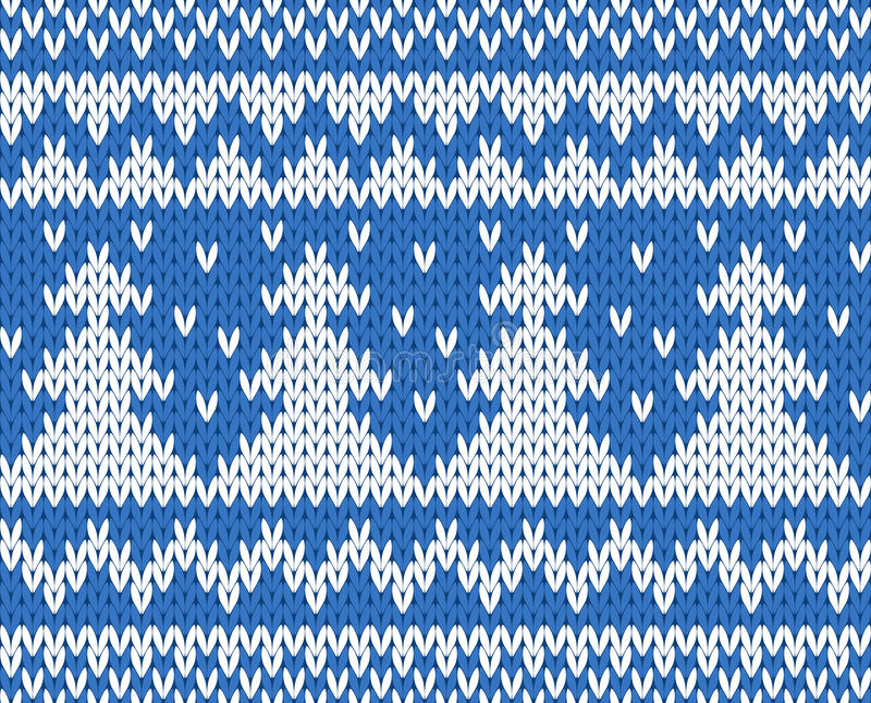 Knitted seamless pattern stock illustration