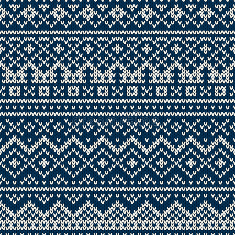 Free Knitted Seamless Pattern In Fair Isle Style Royalty Free Stock Photography - 44496517
