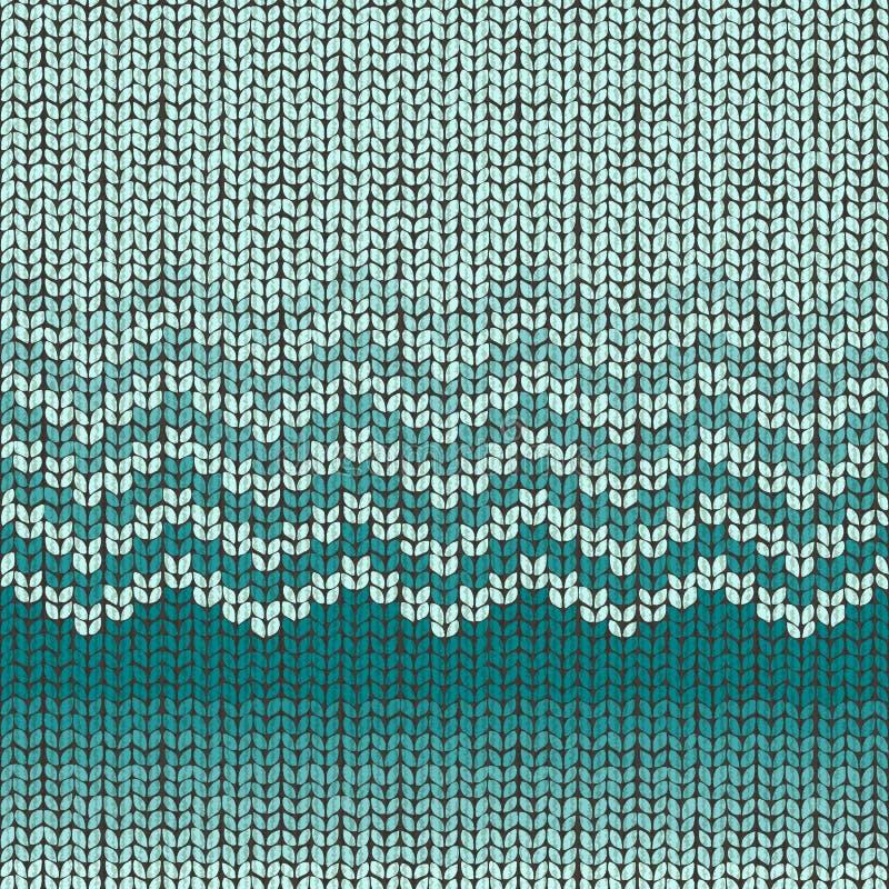 Knitted seamless pattern, shevron wool embroidery stock illustration