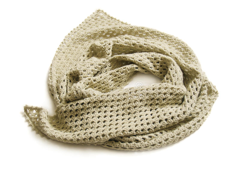 Knitted shawl royalty free stock image