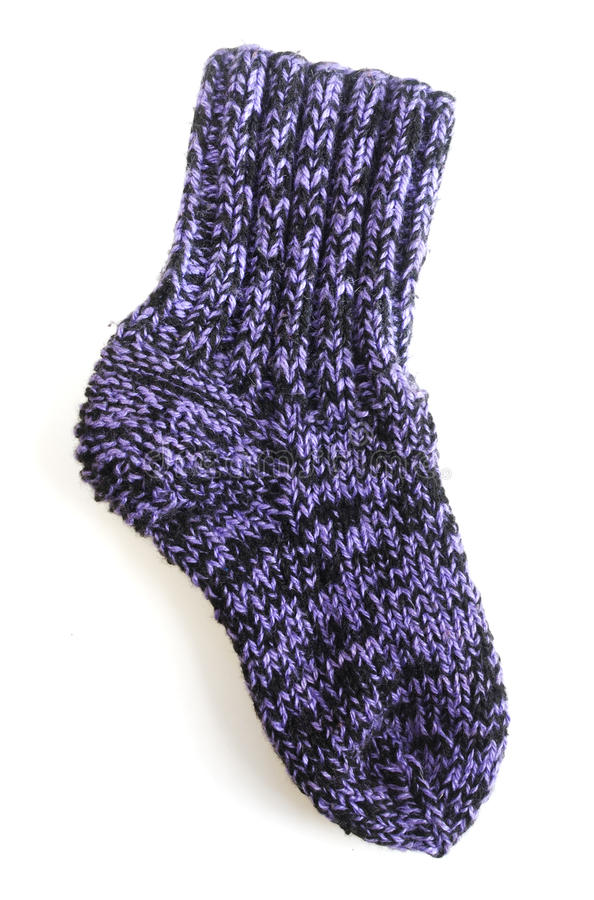Knitted sock royalty free stock image
