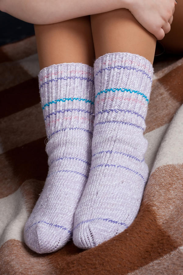 Download Knitted socks stock photo. Image of winter, warm, body - 18393156