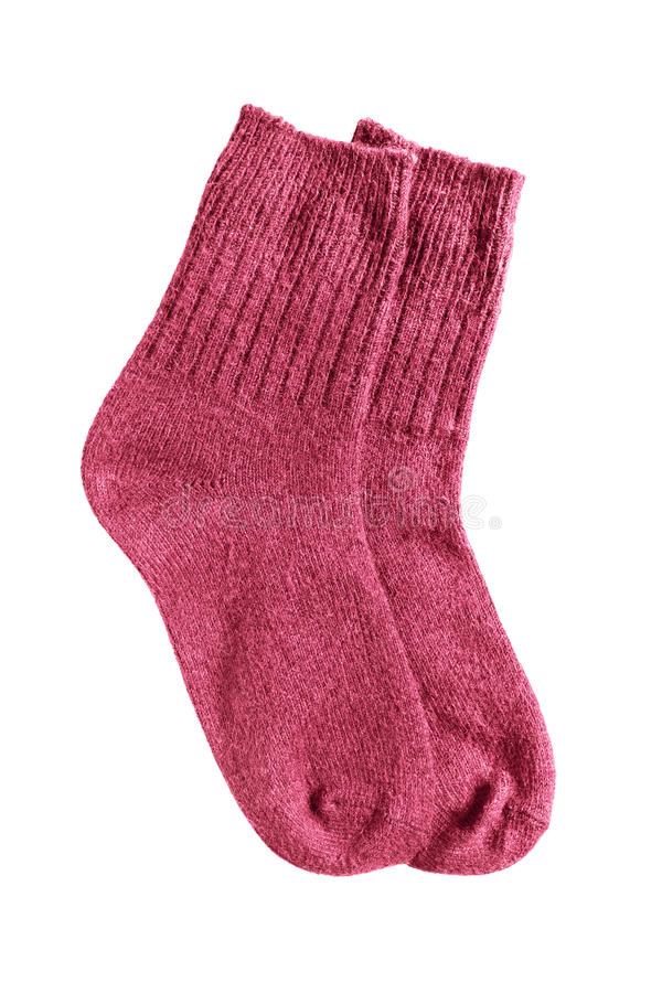 Knitted socks isolated royalty free stock photo