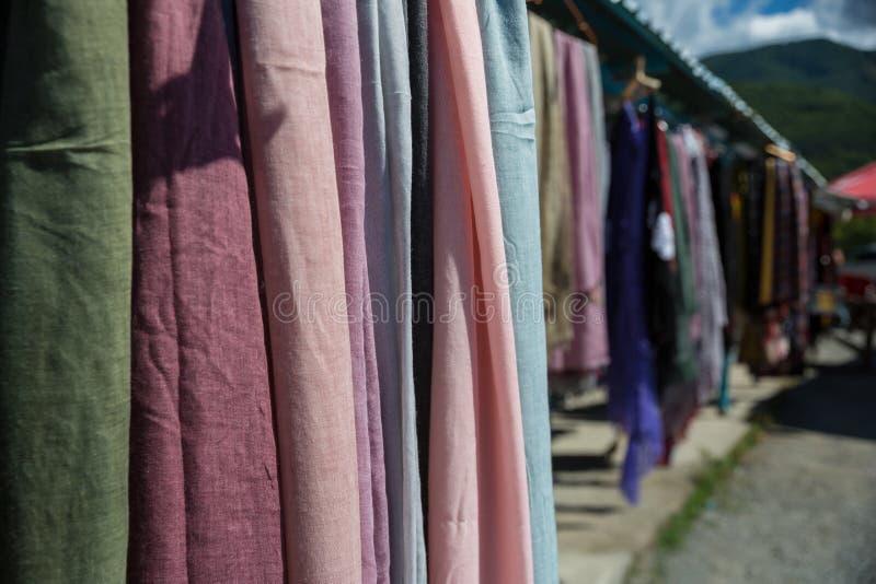 Knitted socks and slippers, Georgia. Street market with knitted socks and slippers,.  stock image