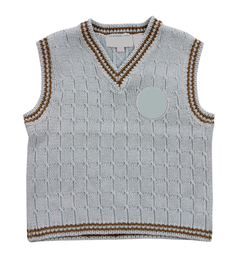 Download Knitted vest stock image. Image of child, cloth, grey - 28920205