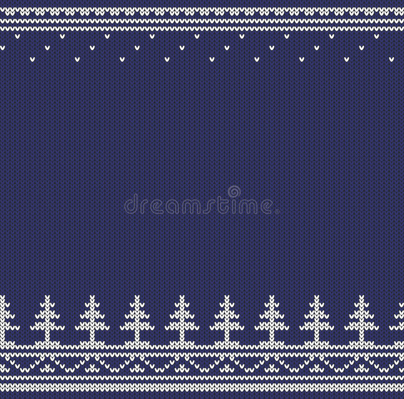 Knitted white tree royalty free illustration