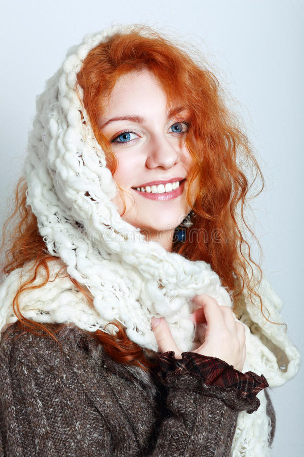 Knitted winter clothes royalty free stock photography