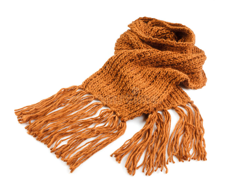 Knitted winter scarf stock photo