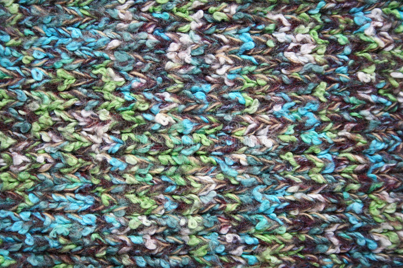 Knitted Wool Colorful Fabric As Background Royalty Free Stock Photos