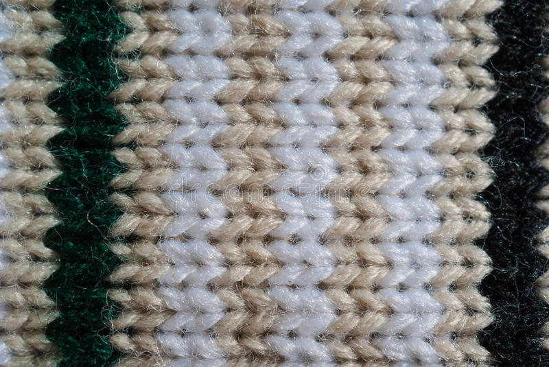 Knitted wool texture stock image