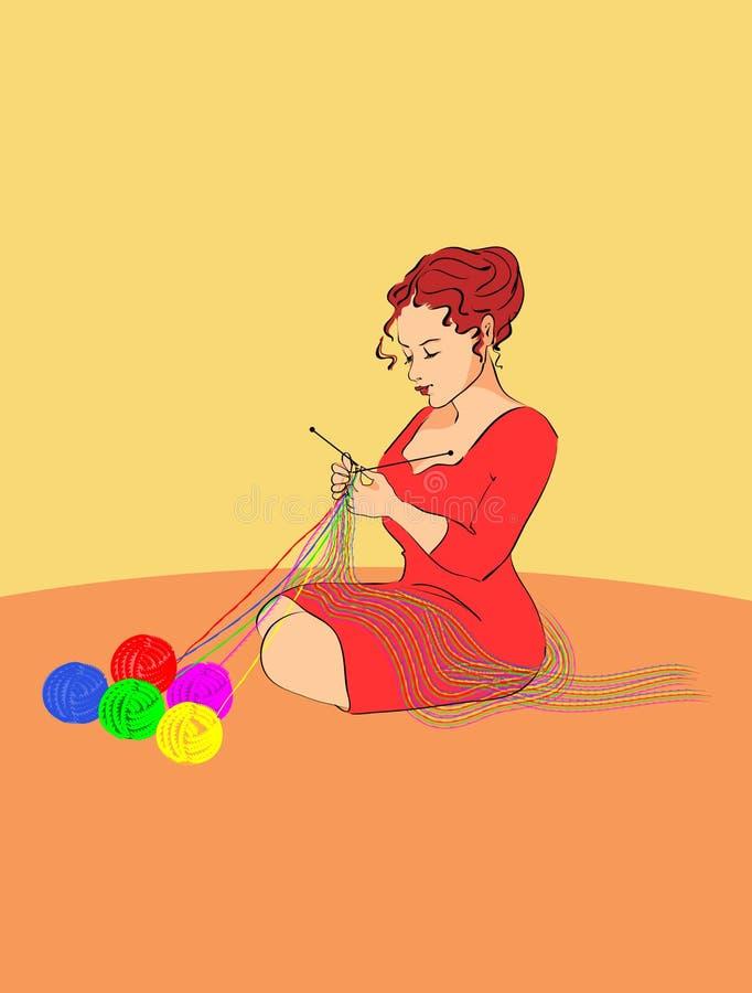 Knitter imagens de stock royalty free