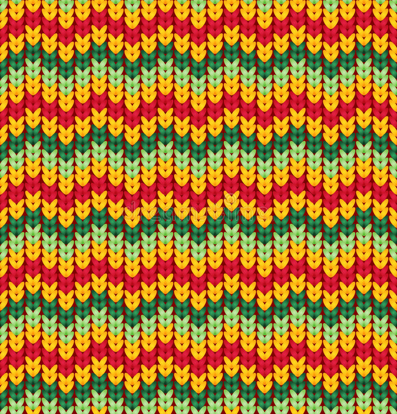 Knitter seamless pattern with stripes and zigzag. Colorful texture, vector background. royalty free illustration