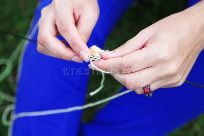 Download Knitting stock photo. Image of craft, hands, socks, woman - 10132364