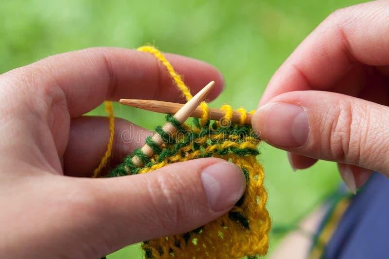 Download Knitting stock image. Image of needles, nail, purl, loop - 20789895