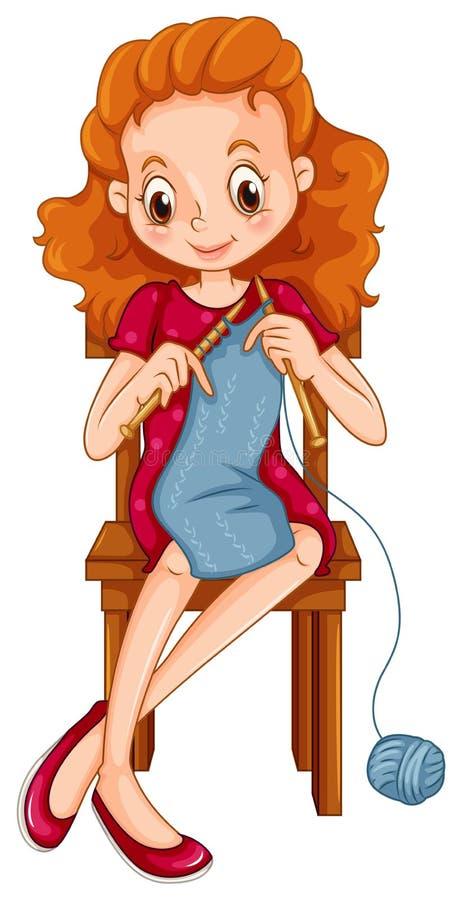 knitting ilustración del vector