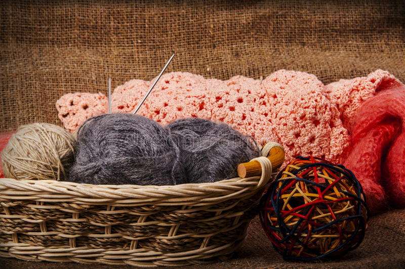 Knitting as a hobby royalty free stock photography