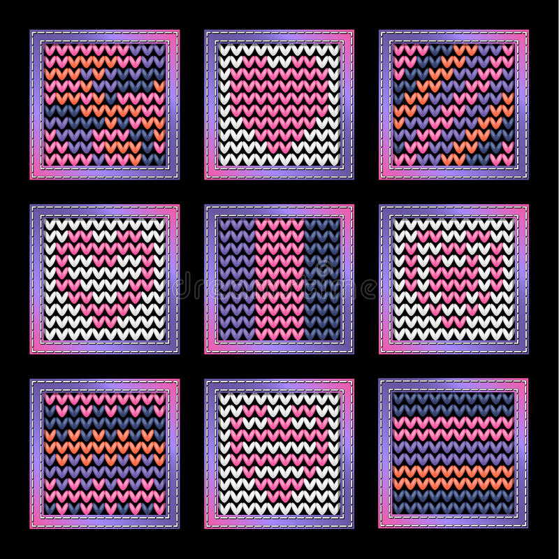 Knitting Background For The App Icons Stock Image