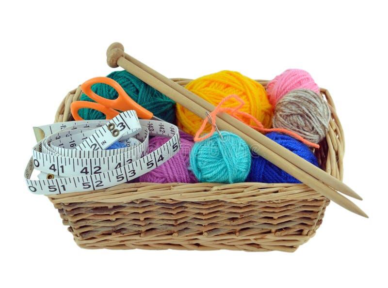 Download Knitting Basket stock image. Image of scissors, thread - 25597195