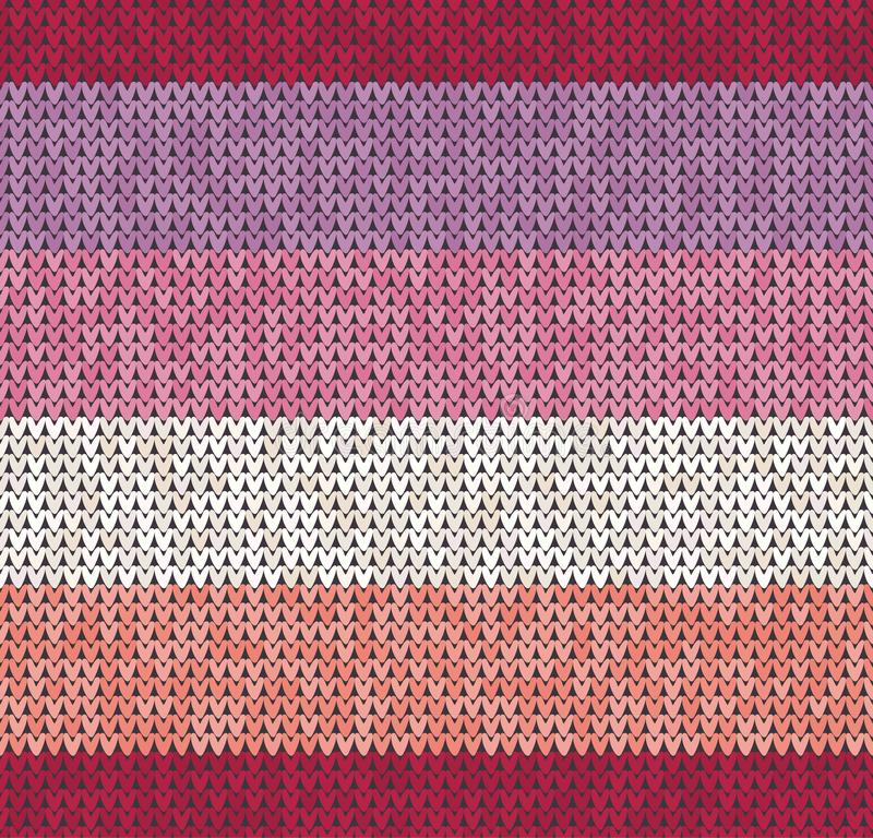 Knitting classic geometric pattern. Knitted realistic seamless background, texture. Vector seamless background for royalty free illustration