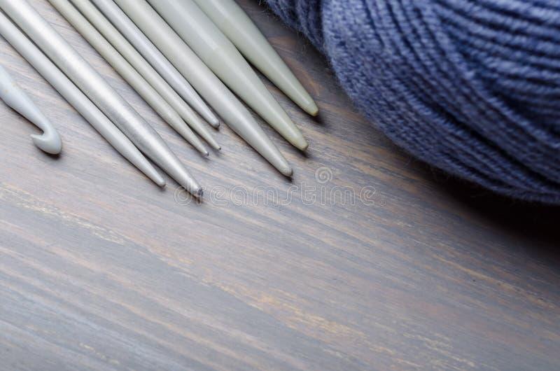 Knitting and crocheting tools royalty free stock photos