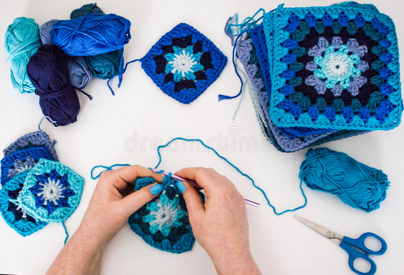 Download Knitting stock image. Image of crotching, craft, hobby - 82339523