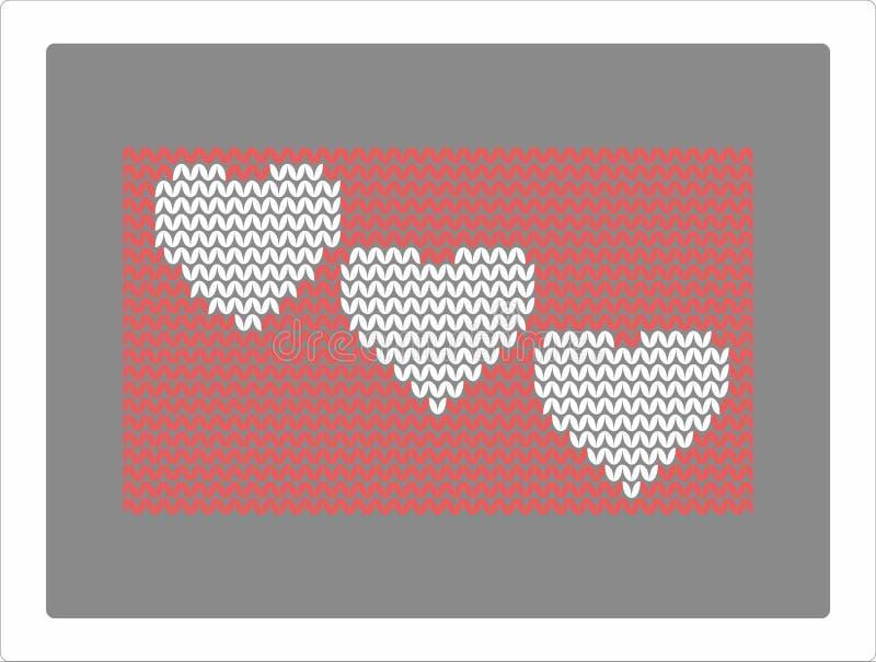 Knitting Heart Stock Illustration Illustration Of Tradittion 80658948