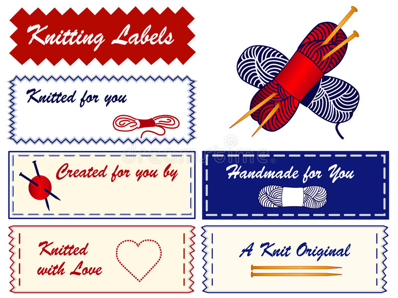 Knitting Labels vector illustration