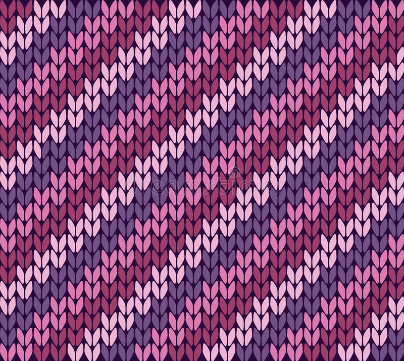 Knitting pattern with stripes stock illustration