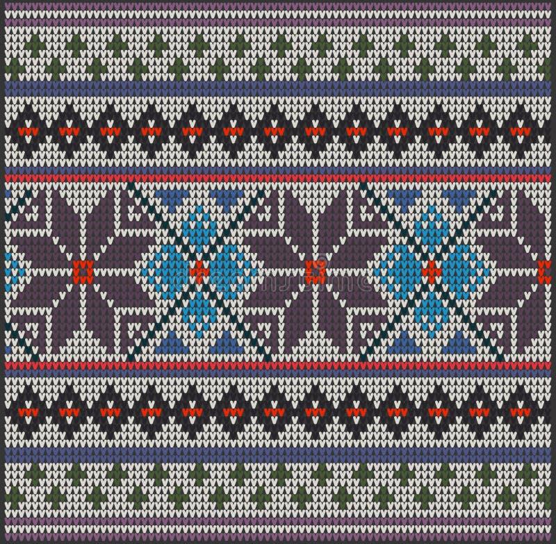 Knitting Pattern Sweater Flower Stock Vector - Illustration of ...
