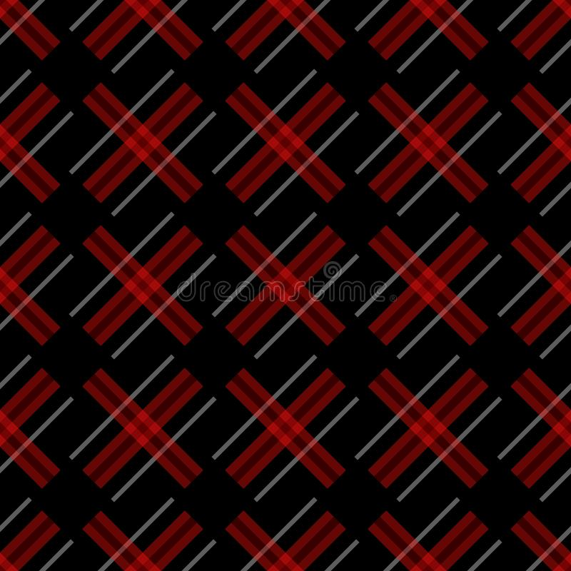 Knitting seamless vector plaid pattern with lines as a woollen Celtic tartan plaid or a knitted fabric texture in muted royalty free illustration